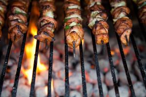 kebab-on-skewers